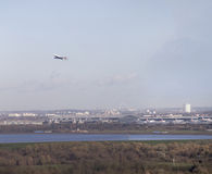British Airways 747 bierze daleko od Heathrow Fotografia Stock