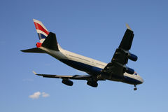 British Airways Boeing 747 Jumbo Jet Landing Royalty Free Stock Photography