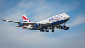 British Airways Boeing 747-400 aircraft Royalty Free Stock Photos
