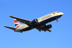 British Airways Boeing 737. 400 (Classic) on approach stock image