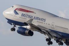British Airways Boeing 747 jumbojet Fotografering för Bildbyråer