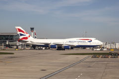 British Airways Boeing 747 at the London Heathrow Airport Stock Photography