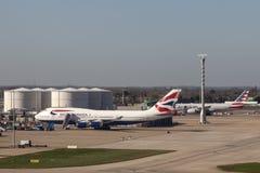British Airways Boeing 747 at the London Heathrow Airport Stock Image