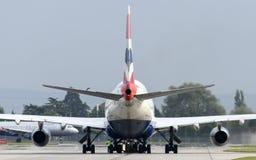 British Airways Boeing 747 que taxiing Fotos de Stock Royalty Free