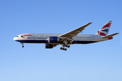 British Airways Boeing 777 samolot Obraz Stock