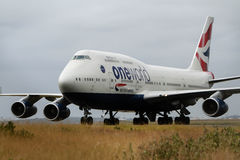 British airways Boeing747 jet on runway Stock Images