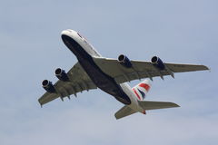 British Airways A380 on climb-out Royalty Free Stock Photography