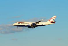British Airways dispose à atterrir Images libres de droits