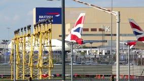 British Airways echa en chorro llevando en taxi metrajes