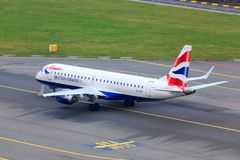 British Airways Embraer ERJ-190 royalty free stock image