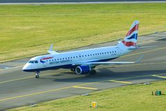 British Airways Embraer ERJ-190 stock photography