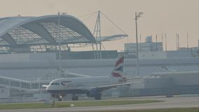 British Airways en la pista almacen de video