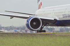 British Airways Engine with wing and body Stock Image