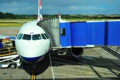 British Airways flygbuss royaltyfri bild