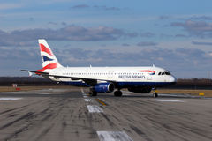 British Airways flygbuss A320-232 Arkivbilder
