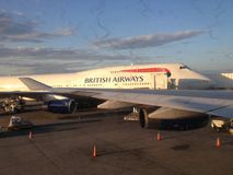 British Airways flygplan Royaltyfri Fotografi