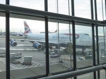 British Airways flygplan Royaltyfri Bild
