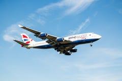 British Airways jumbo Jet Plane Arkivfoto