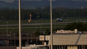 British Airways lądowanie na Monachium lotnisku zbiory