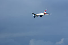 British Airways 777 Landungssfo Stockbild