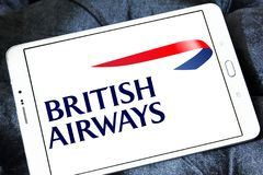 British airways logo. Logo of british airways on samsung tablet Stock Photo