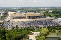 Free British Airways Maintenance Hangar, Heathrow, Aerial View Royalty Free Stock Photography - 168729687