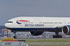 British Airways nivålandningsbana Arkivfoto