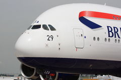 British Airways A380 på Paris Airshow Royaltyfri Foto