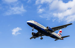 British Airways Passenger Aircraft. Airbus A320 Royalty Free Stock Photos