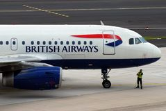British Airways plane. British Airways is one of the biggest airlines companies of the World and this image can be used to depict different articles regarding it Stock Photo
