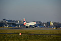 British Airways plane landing Royalty Free Stock Image