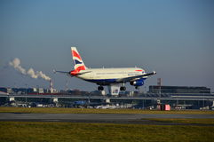 British Airways plane landing Stock Photography