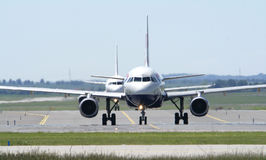 British Airways at Ruzyne Airport. In row and trafic Royalty Free Stock Photo