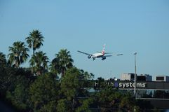 BRITISH AIRWAYS samolotu lądowanie W TEMPA FLORYDA usa Obraz Royalty Free