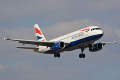British Airways samolotu widok Fotografia Royalty Free