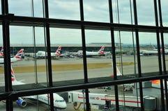 British Airways Terminal 5. Heathrow stock photo