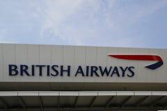 British Airways terminal 7 på John F Kennedy International Airport i New York Fotografering för Bildbyråer