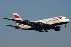 British Airways toppen jumbo Arkivfoton
