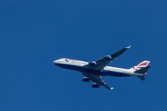 British Airways voyagent en jet Image stock