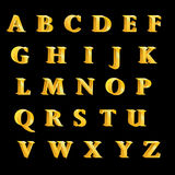 The British alphabet letters golden characters. Cute,eps10 Stock Photos