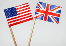 British and American flags Royalty Free Stock Image