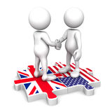 British - American partnership Royalty Free Stock Photography