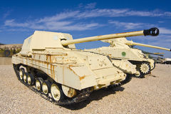 British and American tanks Royalty Free Stock Image