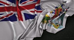 British Antarctic Territory Flag Wrinkled On Dark Background 3D. Render Digital Art Stock Images