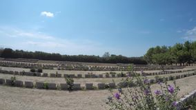 British and Anzac soldier graveyards in Gelibolu Canakkale.500k soldier and civils died at Battle of Gallipoli which took place Ap stock video footage