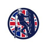 British Arborist Union Jack Flag Icon Royalty Free Stock Image