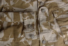 British army desert uniform jacket Royalty Free Stock Images