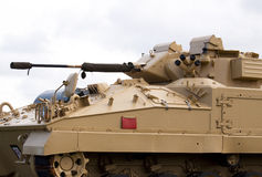 British Army light tank. In desert camouflage Stock Images