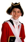 British Army Red Coat. Child in British Army Red Coat / Redcoat costume Stock Photography