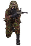 British Army Soldier with assault rifle Royalty Free Stock Photos